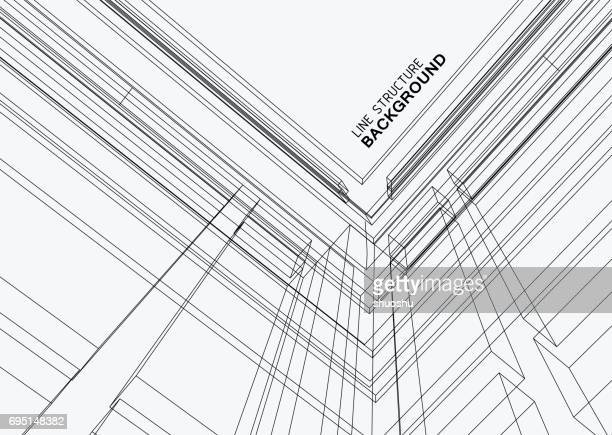 line structure background - architecture stock illustrations, clip art, cartoons, & icons