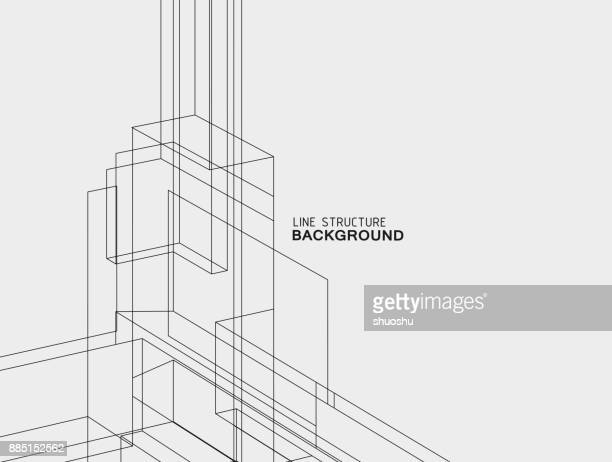 line structure background - single line stock illustrations