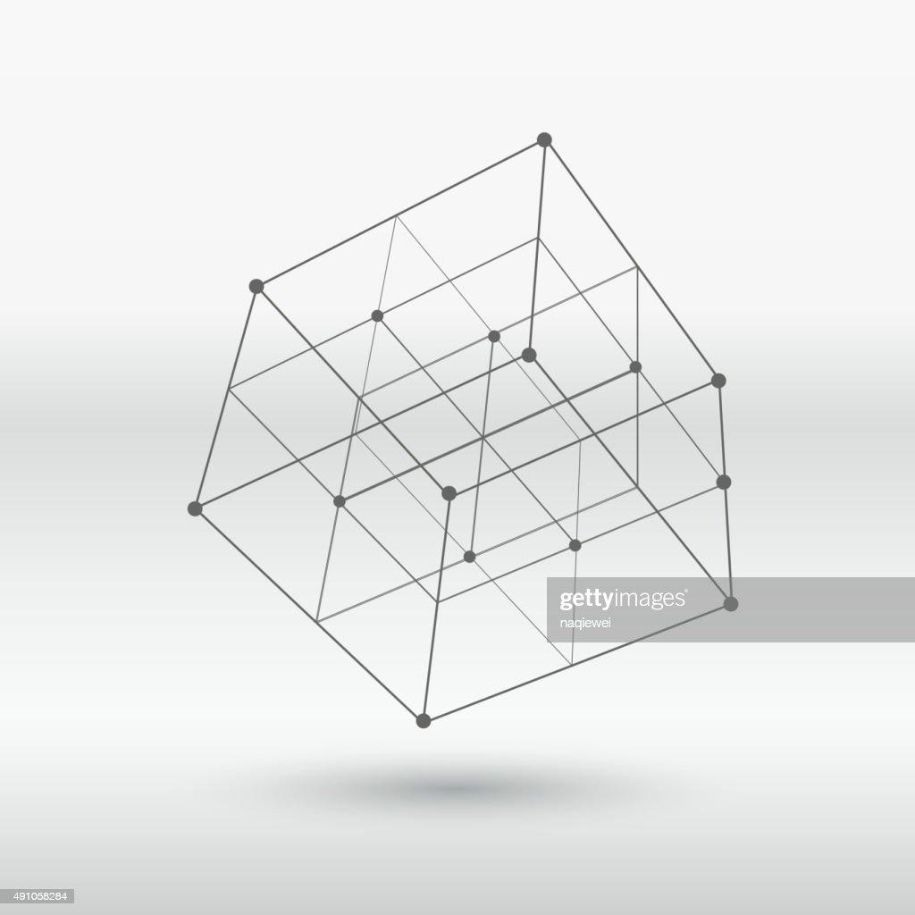 line structure cube