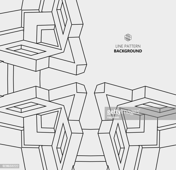 line structure pattern background - construction frame stock illustrations