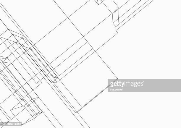 illustrazioni stock, clip art, cartoni animati e icone di tendenza di line structure pattern backgrounds - eleganza