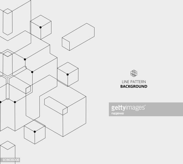 Linie Art geometrische Muster Vektor