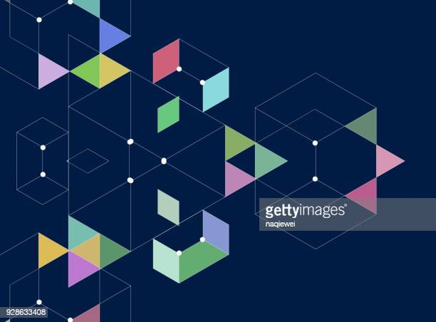 line style triangle pattern background - triangle shape stock illustrations