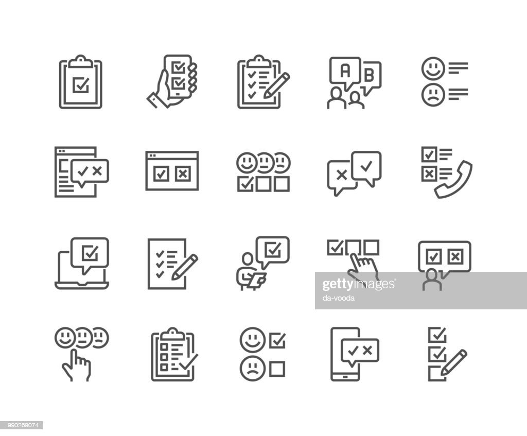 Line Survey Icons