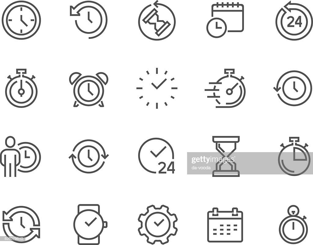Line Time Icons