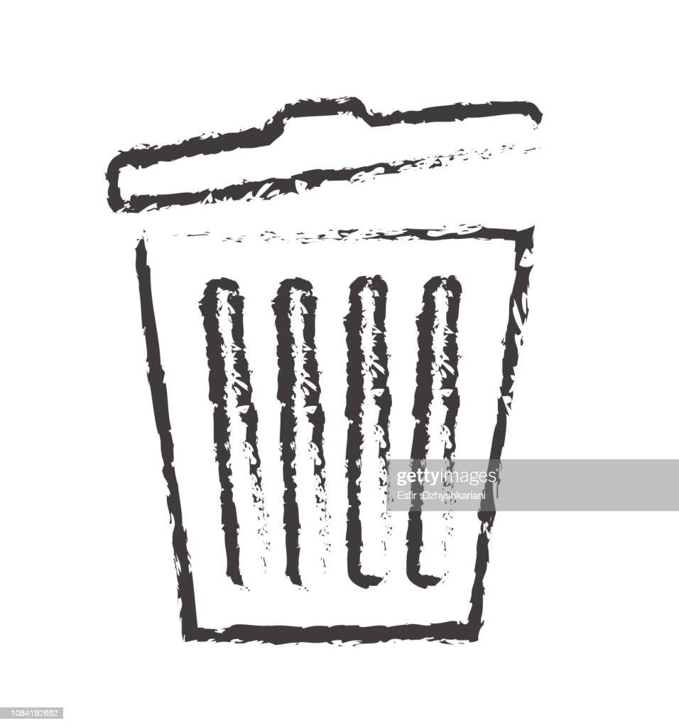 Line trash icon delete vector for web site design, app isolated