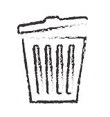 Line trash icon delete vector for web site design, app isolated