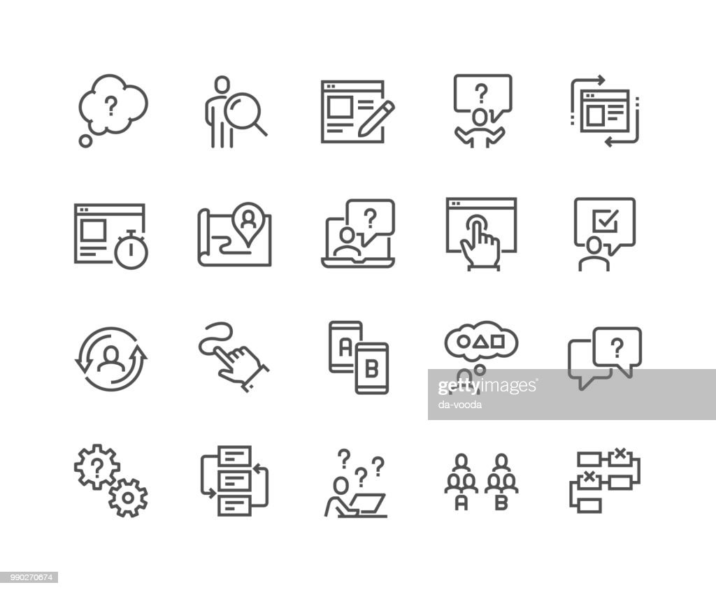 Line UI and UX Icons