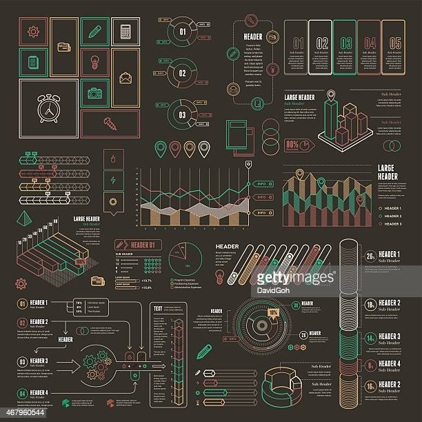 Line UI Infographic Elements - Complete Set