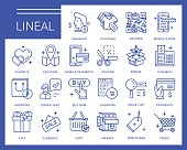 Line vector icons in a modern style