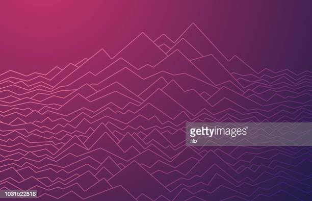 line waves abstract - mountain stock illustrations