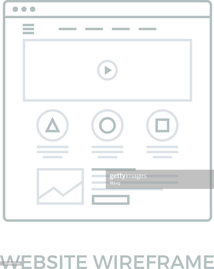 Line Website Wireframe