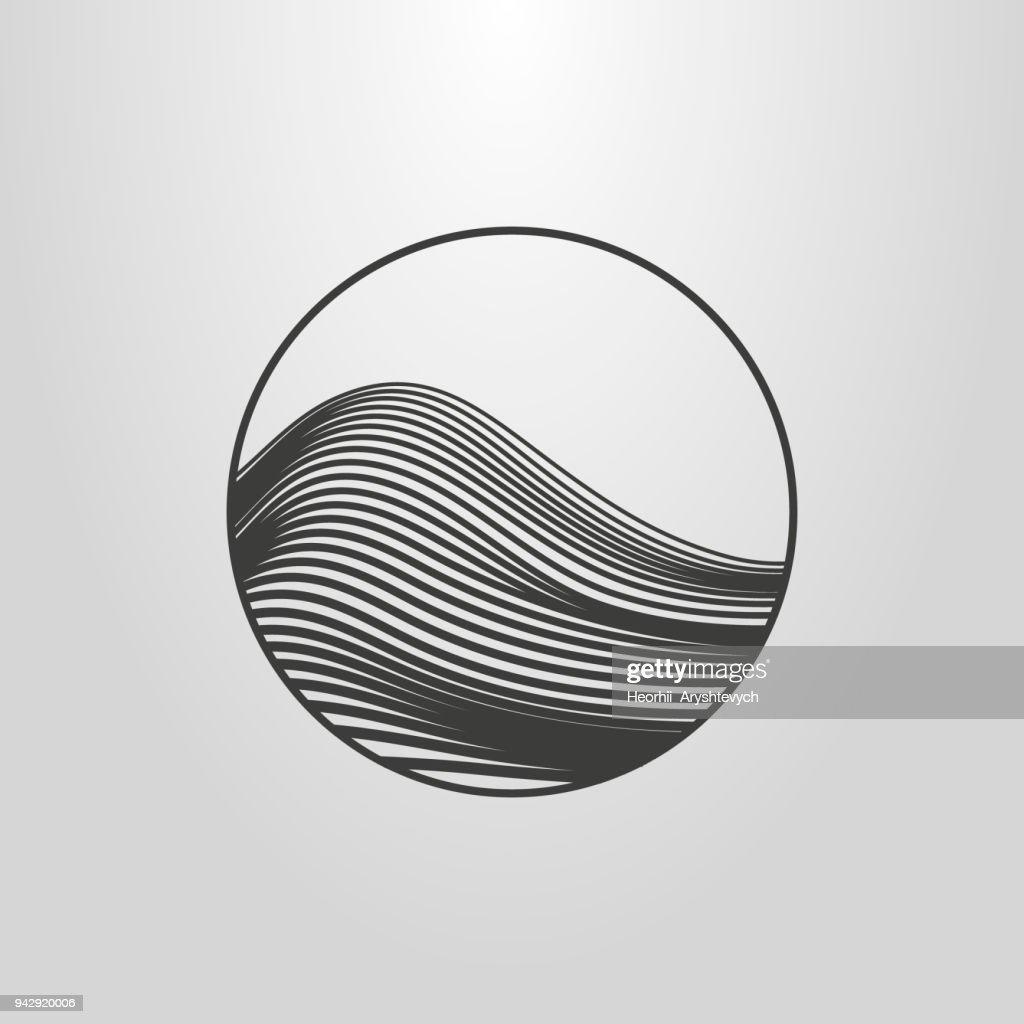 linear abstract mountain icon