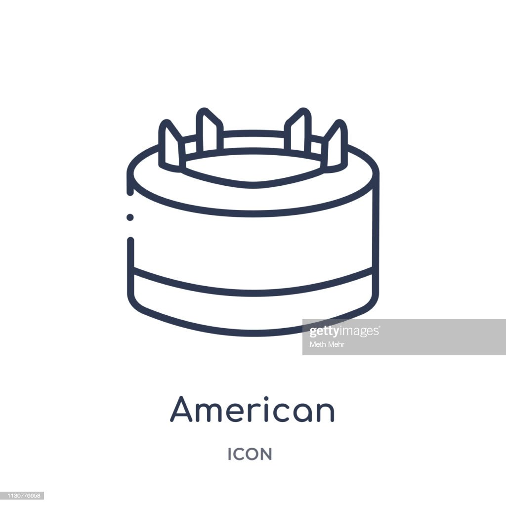 Linear american football tee icon from American football outline collection. Thin line american football tee vector isolated on white background. american football tee trendy illustration