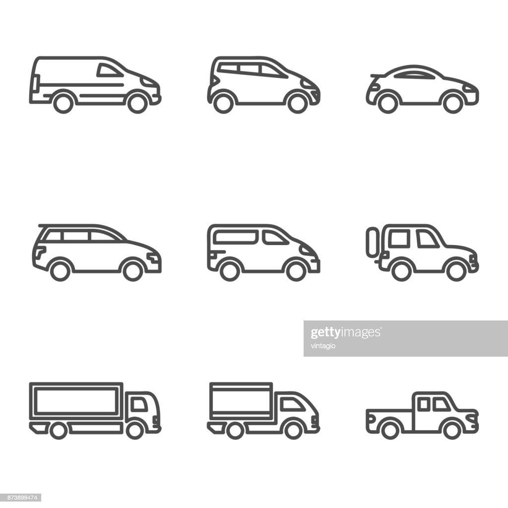 Linear Car Icon