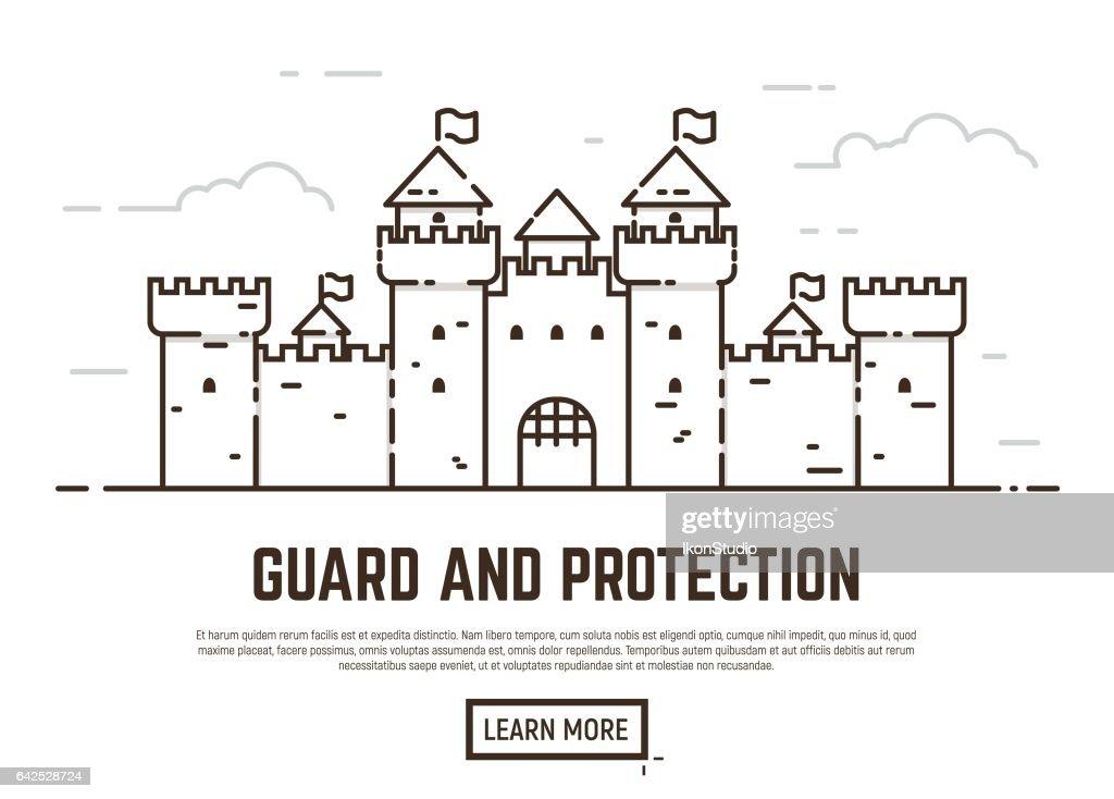 Linear castel illustration