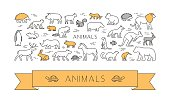 Linear concept for pets and farm animals