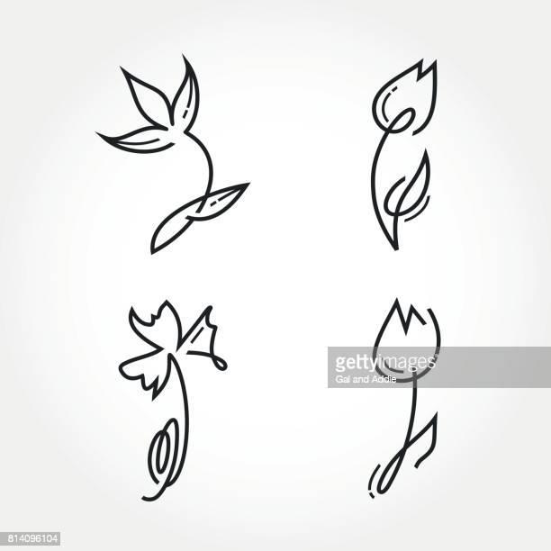 線形の花コレクション