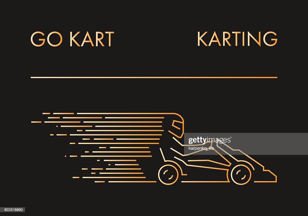 Linear go kart symbol and label.