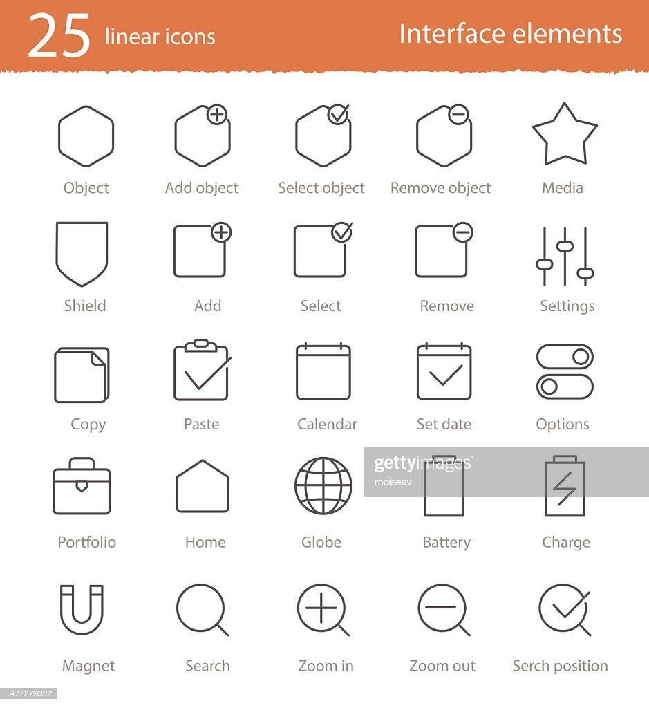 Linear icons 25 set