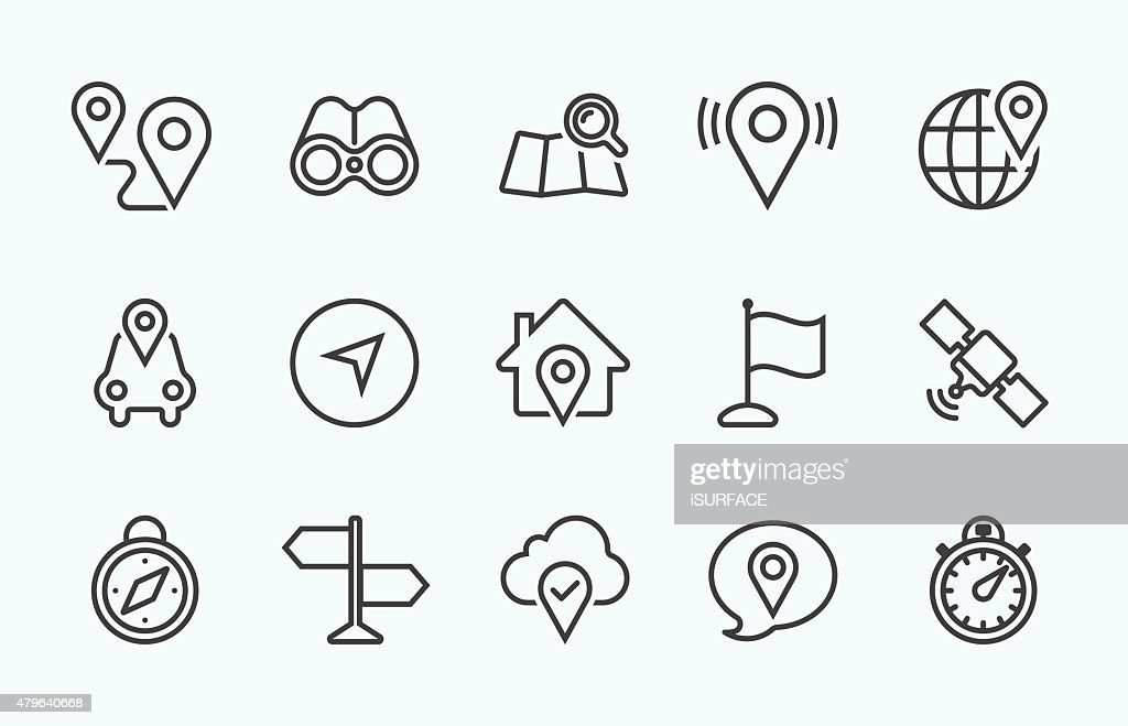Linear Navigation icon