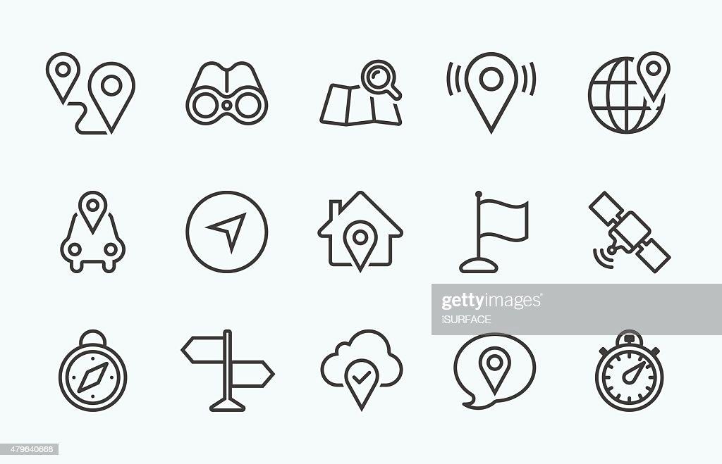 Linear Navigation icon