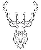 Linear stylized deer