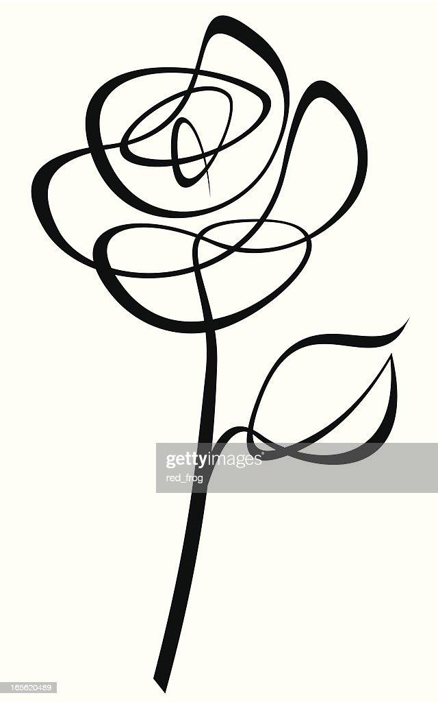 Lineart Rose