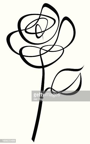 line drive rose - rosa stock-grafiken, -clipart, -cartoons und -symbole