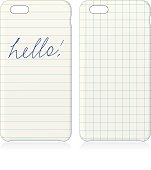 Lined and Graph paper with HELLO phone covers set
