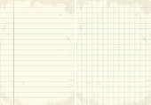 Lined & Graph vintage paper set.