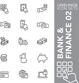 Linelinge Bank and Finance 02 Thin line icon sets
