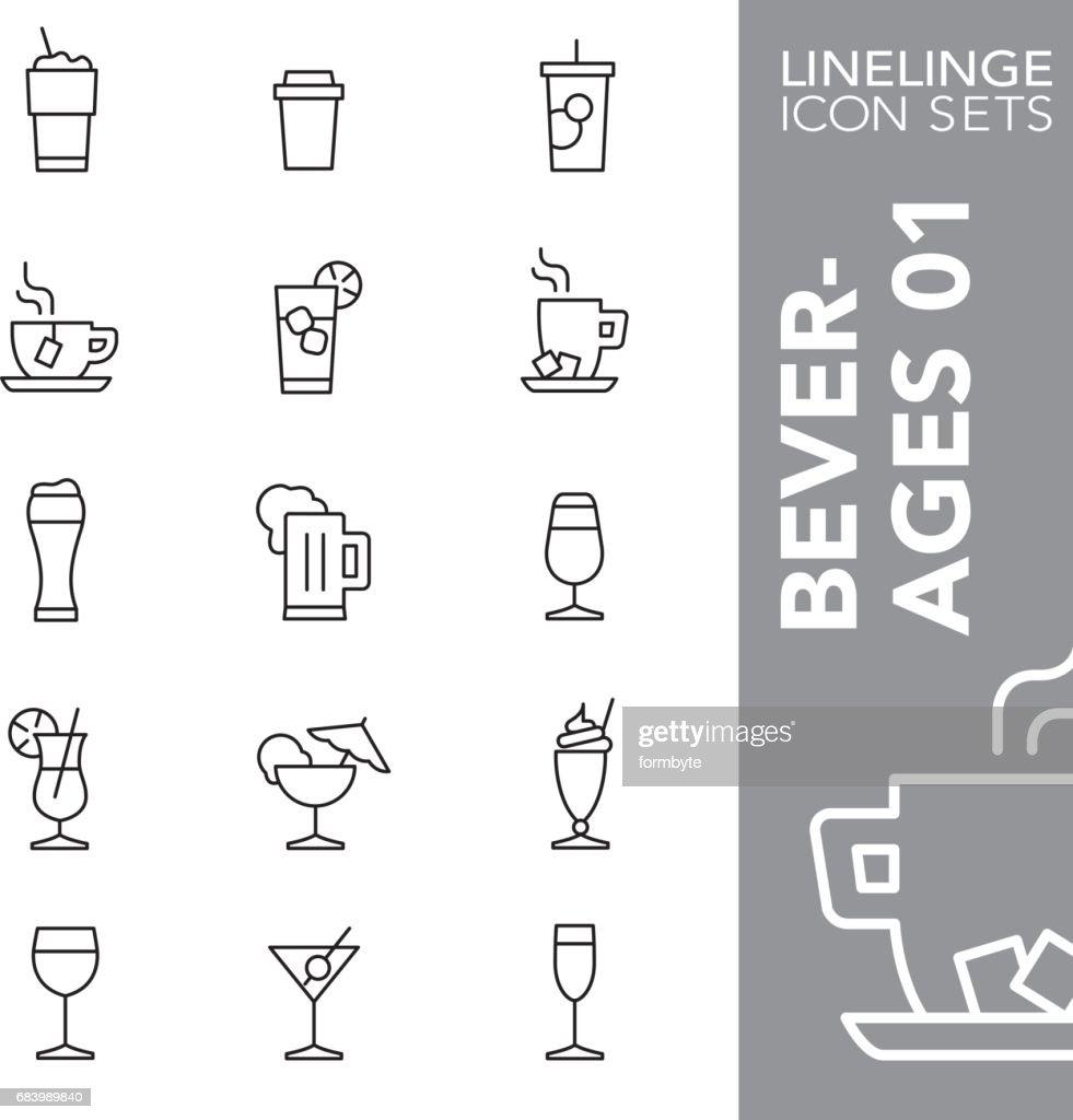 Linelinge Beverages 01 Thin line icon sets