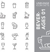 Linelinge Beverages 01 Thin line icon sets
