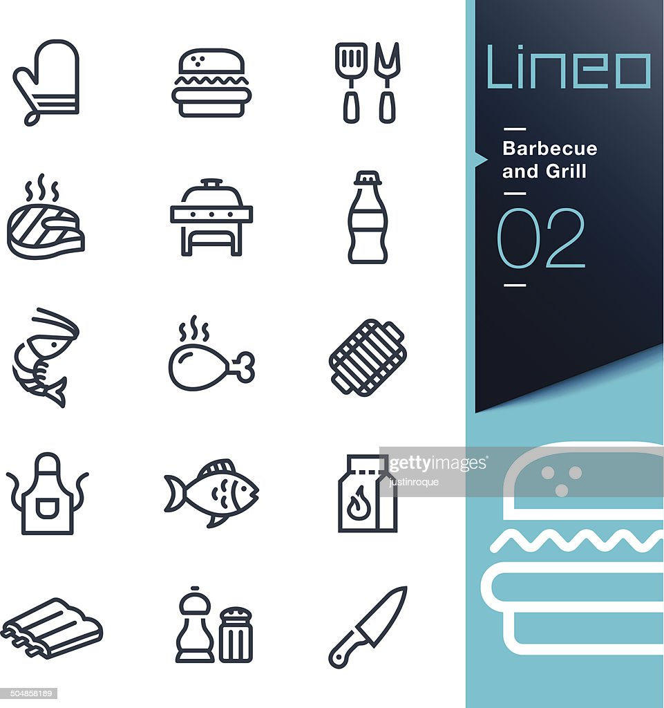 Lineo - Barbecue and Grill outline icons