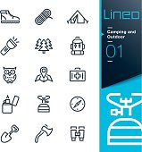 Lineo - Camping and Outdoor outline icons