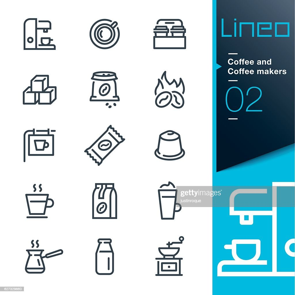 Lineo - Coffee line icons