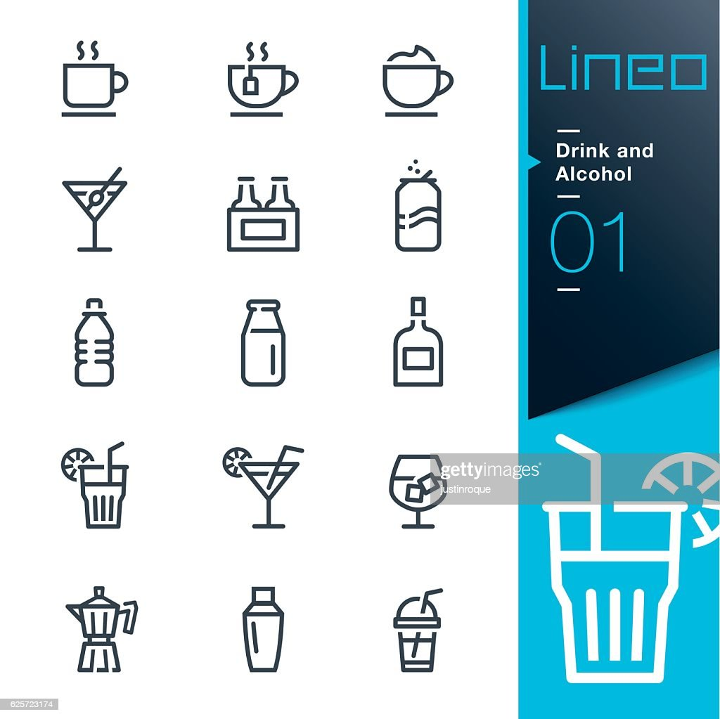 Lineo - Drink and Alcohol outline icons