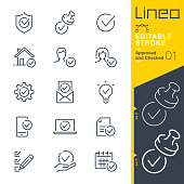 Lineo Editable Stroke - Approved and Checked outline icons