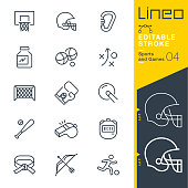 Lineo Editable Stroke - Sports and Games line icons