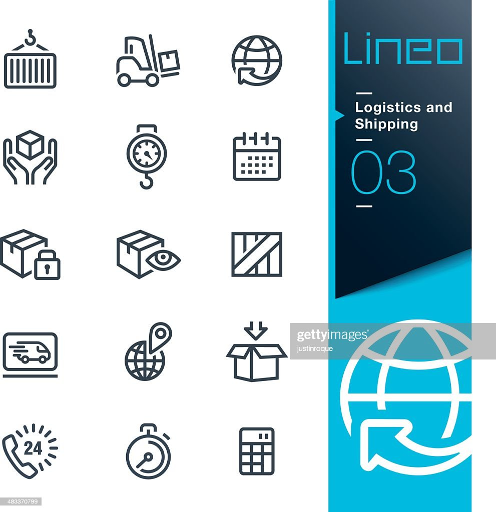 Lineo - Logistics and Shipping outline icons