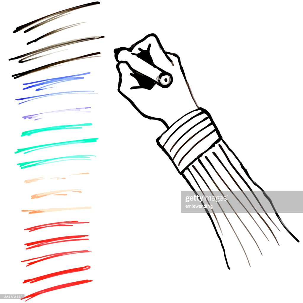 Lines Hand Text White Board Illustration