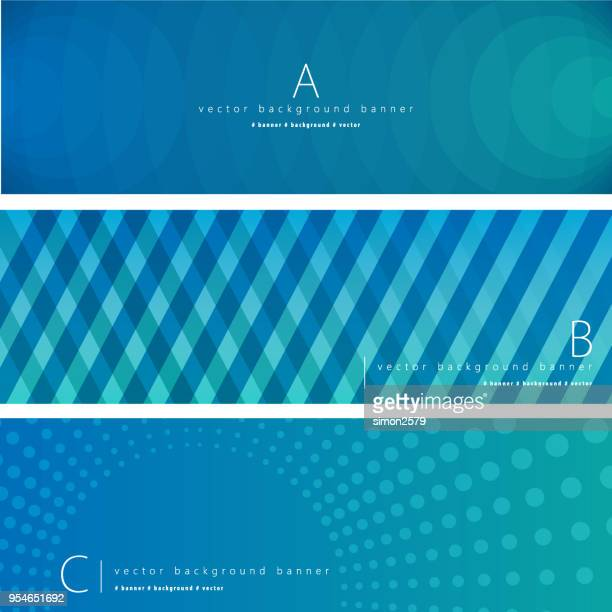 Lines Pattern Background Banner set