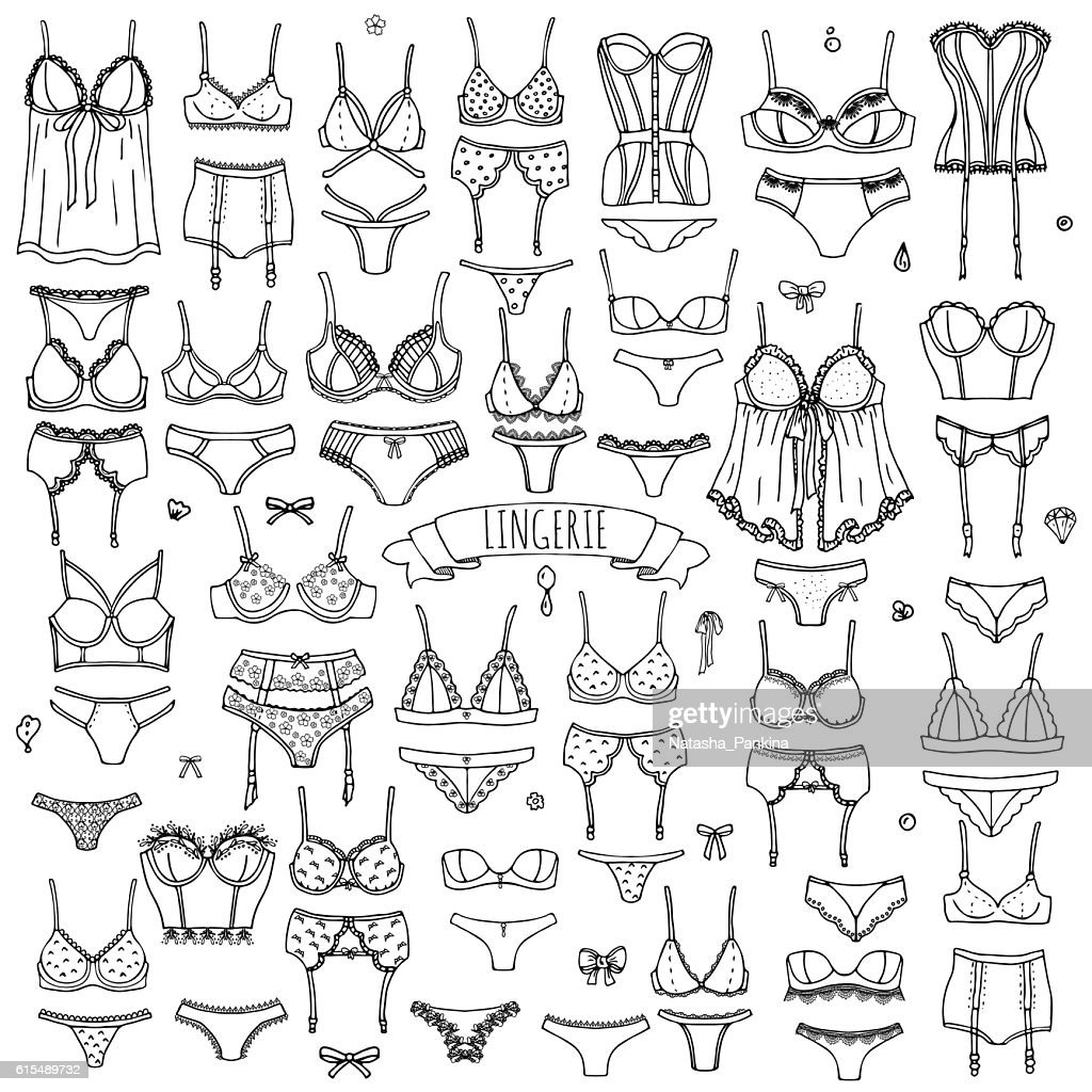 LIngerie icons set
