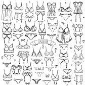 LIngerie icons set