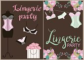 Lingerie party invitation cards