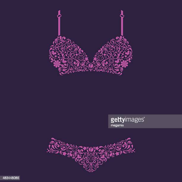 lingerie. - underwear stock illustrations, clip art, cartoons, & icons