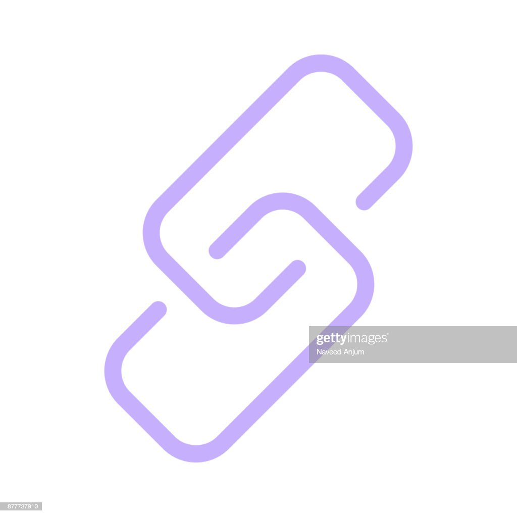 link Colour Line Vector Icon
