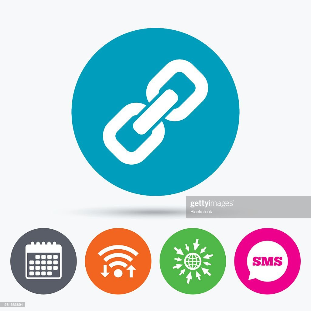 Link sign icon. Hyperlink symbol.
