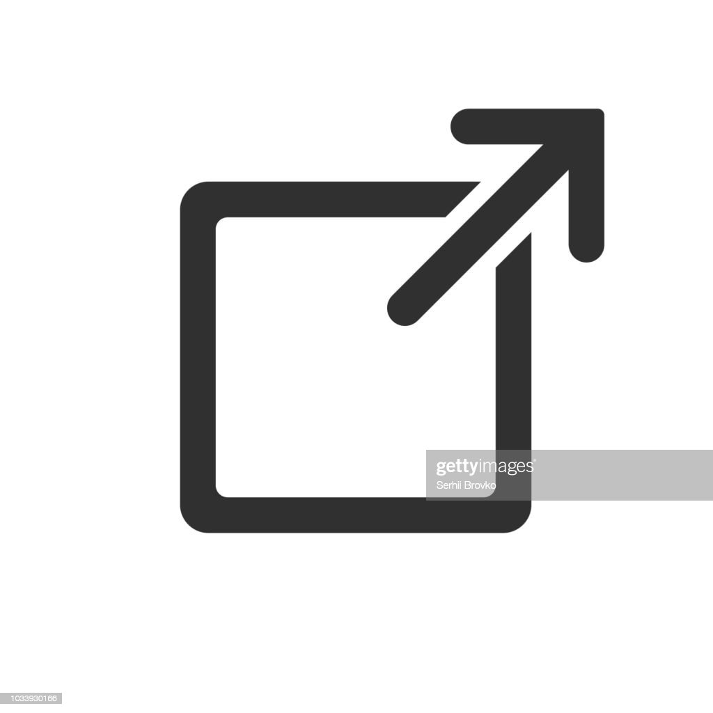 Link sign isolated on white background. Vector illustration.